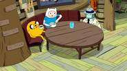 S9e2 Jake, Finn, and BMO at table