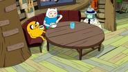 S9e2 Jake, Finn, and BMO at table