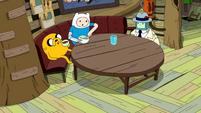 S10e2 Jake, Finn, and BMO at table