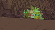 S5e42 James being eaten by Ooze Monsters.