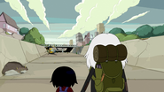 S5e14 Simon and Marcy watching monsters approaching