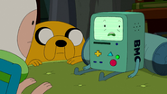S5e28 BMO lying to Finn and Jake