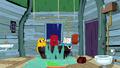 S6e15 Jake, Rattleballs, and Finn in tub