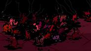 Demons eating black stuff