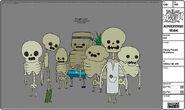 Modelsheet candypeople skeletons