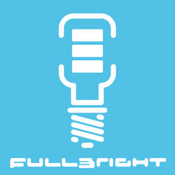 An abstract icon of a futuristic lightbulb, with mobile phone style battery charging bars showing full charge.