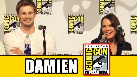 Damien_Comic_Con_Panel_-_Bradley_James,_Barbara_Hershey