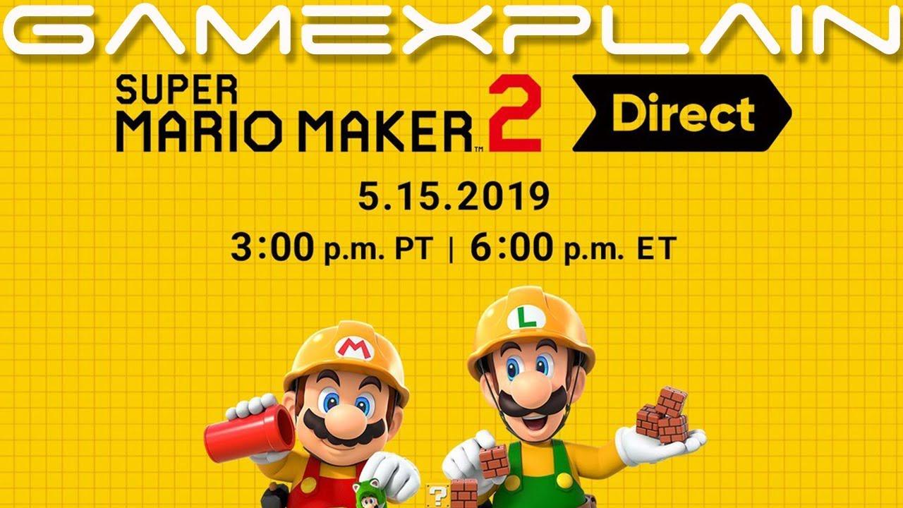 Super Mario Maker 2 Direct Announced for TOMORROW!