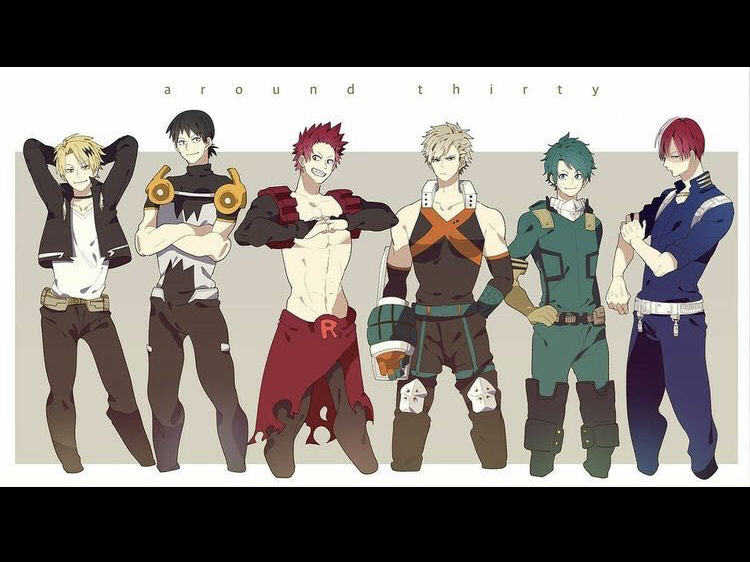 Bruh I found this and I hate Midoriya's hair for some reason 😂😂 and bakugo's Ig   But theses boys
