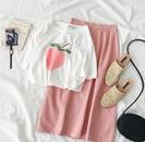 Sweet Peach T-Shirt & Skirt