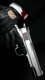 Gloves-gun-suit