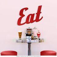 Diner eat sign