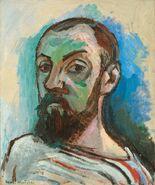 Self-Portrait in a Striped Shirt