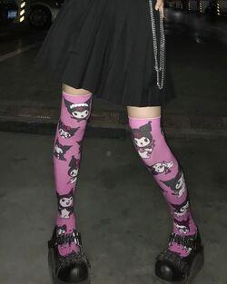 "⋆。˚✩ Yuzi ✯⋆。˚ on Instagram ""The kuromi socks doesn't match (°ー°〃) so i cropped it ummmm"".jpg"