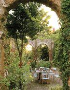 Romantic italian garden