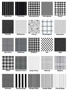 Types of fabric patterns