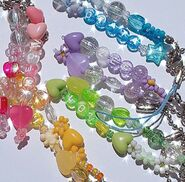 Colorful bead keychains