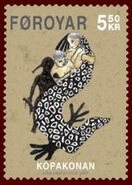 Faroese stamp 584 the seal woman