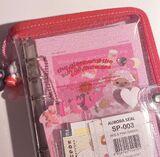Red sparkly binder
