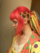 Leopard print cyberpop hairstyle