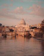 Romantic italian rome