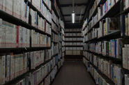Horror academia library hallway