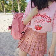 Milk-pink-skirt