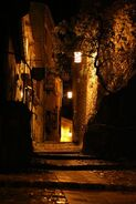 Italian-city-night-alley