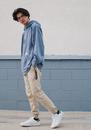 Soft blue summer streetwear