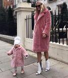Pink fur coats