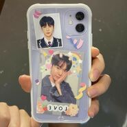 Purple doyoung phone case