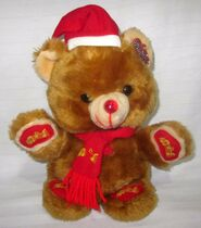 Vintage-Dan-Dee-MTY-Plush-Golden-Holiday-Teddy