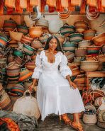 Nigerian Woman with Baskets