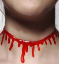 Shein blood design choker