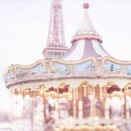 Pastel carnival carousel