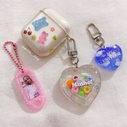 Airpods with resin keychains