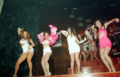 Juliana's partygoers in bodikon, around 1993?