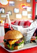 Diner burger and fries