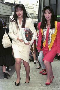 Bodikon women in 1989