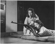 School girls guns