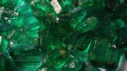Rough emerald crystals