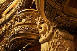 Balcony at Opera House in Paris