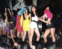 Juliana's girls dancing in Bodikon, around 1991