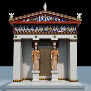 Siphnian treasury with color