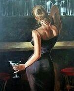Painting-woman-martini-bar