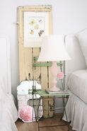 Vintage chair and lamp