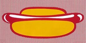 Roy Lichtenstein's hot dog