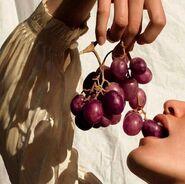 Grapes-eating