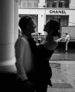 Vintage parisian couple