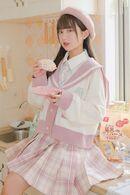 Sailor Collar Loose Cardigan by Mori Tribe